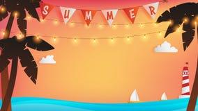 Romantisk ögonblicksbakgrund för sommar stock illustrationer