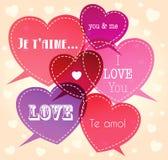 romantisk bakgrund stock illustrationer