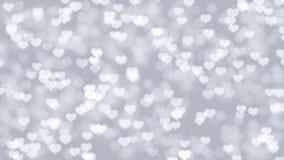 Romantisk bakgrund för rörelse för moderdag med hjärtabokeh