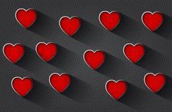Romantisk bakgrund med präglad hjärta royaltyfri illustrationer