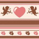 Romantisk bakgrund. Vektorillustration. Royaltyfria Bilder