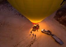 Romantisk ballong för varm luft för resa Royaltyfri Bild