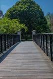 Romantisk bro i en parkera i London i sommar - 2 Arkivfoto