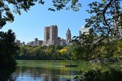 Romantisk Central Park sjö Arkivbilder