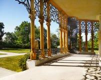 Romantisk Chateau Hluboka, Tjeckien Royaltyfri Fotografi