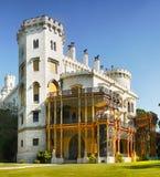 Romantisk Chateau, Hluboka, Tjeckien Royaltyfri Foto