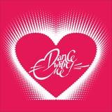 Romantisk designbeståndsdel - hjärta och bokstäver för valentindag Royaltyfri Fotografi