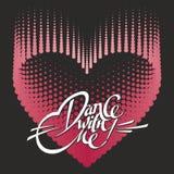 Romantisk designbeståndsdel - hjärta och bokstäver för valentindag Royaltyfria Bilder