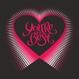 Romantisk designbeståndsdel - hjärta och bokstäver för valentindag Royaltyfri Foto
