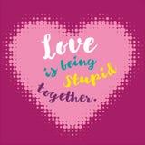 Romantisk designbeståndsdel - hjärta och bokstäver för valentindag Arkivbild