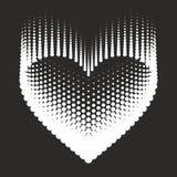 Romantisk designbeståndsdel - hjärtahalvton för valentin day_1 Arkivfoto