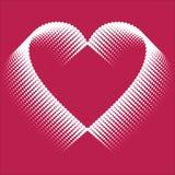 Romantisk designbeståndsdel - hjärtahalvton för valentin day_3 Fotografering för Bildbyråer