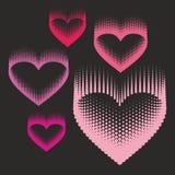 Romantisk designbeståndsdel - hjärtahalvton för valentin day_2 Royaltyfri Fotografi