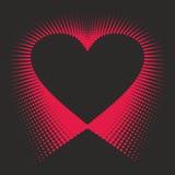 Romantisk designbeståndsdel - hjärtahalvton för valentin day_4 Arkivbilder