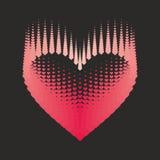 Romantisk designbeståndsdel - hjärtahalvton för valentin day_5 Royaltyfri Fotografi