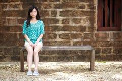 Romantisk flicka för skönhet utomhus Arkivfoto
