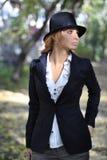 Romantisk flicka i hatten Royaltyfria Foton