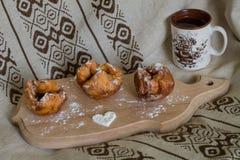 Romantisk frukost för förälskelsefru Fotografering för Bildbyråer