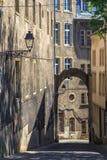 Romantisk gammal gata Fotografering för Bildbyråer