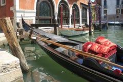 Romantisk gondol i Venedig Royaltyfri Foto