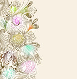 Romantisk hand tecknad blom- bakgrund Fotografering för Bildbyråer