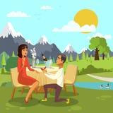 Romantisk illustration för tecknad film för förbindelseförslag vektor illustrationer
