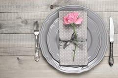 romantisk inställningstabell Royaltyfri Foto