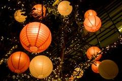 Romantisk japansk pappers- lykta Royaltyfri Foto