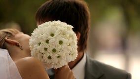Romantisk kyss lager videofilmer