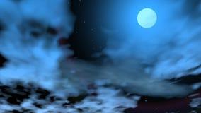 Romantisk måne - 3D framför stock illustrationer