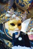 Romantisk maskering i Venedig, Italien, Europa, slut upp Arkivfoto