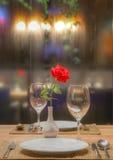 Romantisk matställe Royaltyfria Bilder