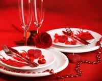 Romantisk matställe Arkivbild