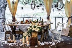 Romantisk matställe Fotografering för Bildbyråer