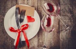 Romantisk matställe Förälskelse Royaltyfria Foton