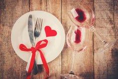 Romantisk matställe Förälskelse Fotografering för Bildbyråer