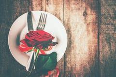 Romantisk matställe Förälskelse Royaltyfri Bild