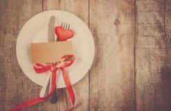 Romantisk matställe Förälskelse Royaltyfria Bilder
