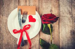 Romantisk matställe Förälskelse Royaltyfri Foto