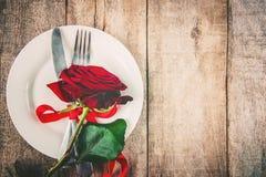 Romantisk matställe Förälskelse Arkivbilder