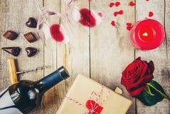 Romantisk matställe för älsklingen Arkivbild