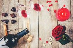 Romantisk matställe för älsklingen Royaltyfria Bilder