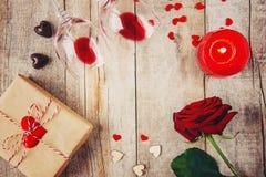 Romantisk matställe för älsklingen Royaltyfri Fotografi