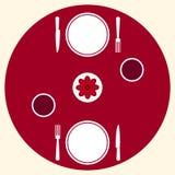 Romantisk matställe för portion för två tabell Arkivbilder