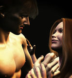 Romantisk mellanspel Arkivfoton