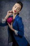 Romantisk modekvinnlig Royaltyfria Foton