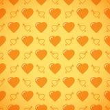 Romantisk modell för älskvärd hjärta seamless vektor för bakgrund Royaltyfria Foton