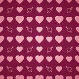 Romantisk modell för älskvärd hjärta seamless vektor för bakgrund Arkivfoton