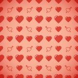 Romantisk modell för älskvärd hjärta seamless vektor för bakgrund Royaltyfri Foto