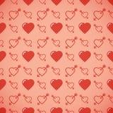 Romantisk modell för älskvärd hjärta seamless vektor för bakgrund Royaltyfria Bilder